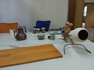 コーヒーの焙煎機械