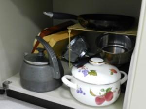 1Fスペースの調理器具