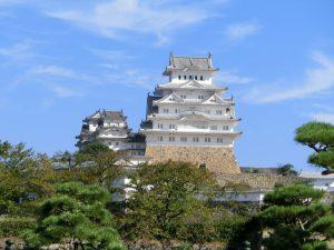 大手門から姫路城
